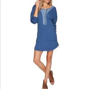 "Free People blue ""ocean"" mini dress"